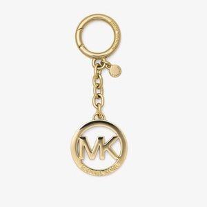 NIB Michael Kors signature gold plated key chain